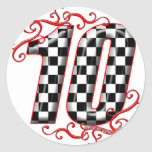auto racing number 10 stickers