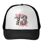auto racing number 13 mesh hat