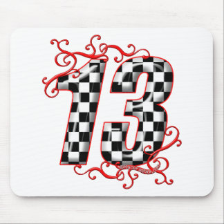 auto racing number 13 mouse pad