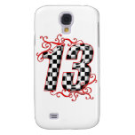 auto racing number 13 samsung galaxy s4 case