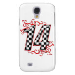 auto racing number 14 galaxy s4 covers