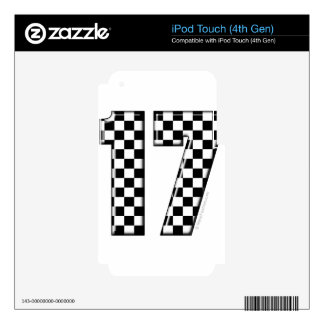 auto racing number 17 iPod touch 4G decal