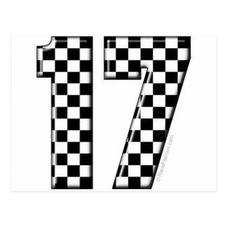 auto racing number 17 postcard