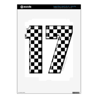auto racing number 17 skins for iPad 3