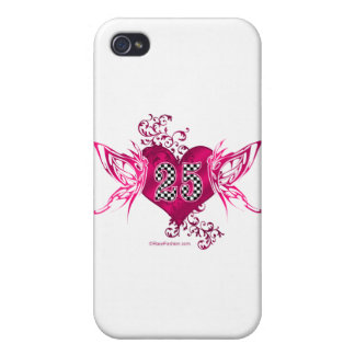 auto racing number 25 butterfly design iPhone 4/4S cover