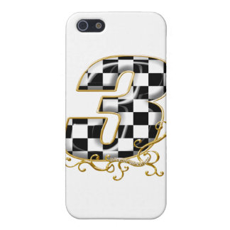 auto racing number 3 gold cover for iPhone SE/5/5s