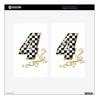 auto racing number 4 kindle fire decal