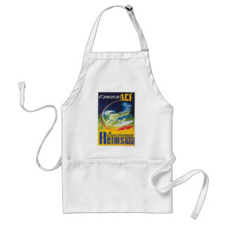 Auto Racing Poster Apron