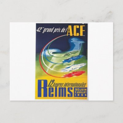 Auto Racing Posters on Auto Racing Poster Post Card From Zazzle Com