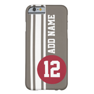 Auto Racing Stripes with number and name Barely There iPhone 6 Case