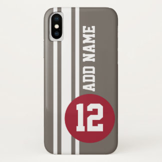 Auto Racing Stripes with number and name iPhone X Case