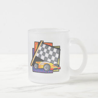 Auto Racing T Shirts and Gifts Frosted Glass Coffee Mug