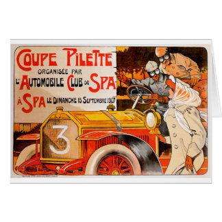 Auto Rally Race ~ Vintage Automobile Car Ad Card