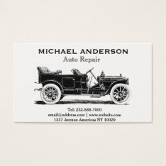 Auto Repair And Car Dealer Business Card at Zazzle