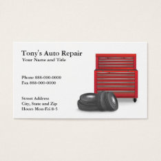 Auto Repair Business Card at Zazzle