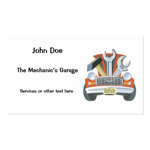 Auto repair shop business cards 2017 2018 best cars for Mechanic shop business cards