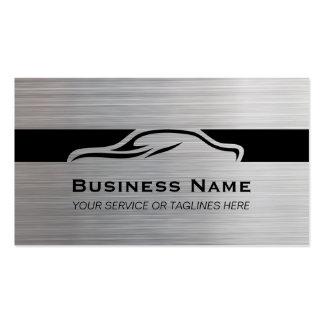 Auto Repair Car Detailing Automotive Modern Metal Business Card