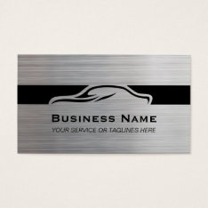Auto Repair Car Detailing Automotive Modern Metal Business Card at Zazzle