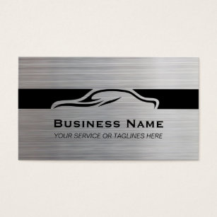 Car dealer business cards templates zazzle auto repair car detailing automotive modern metal business card colourmoves Gallery