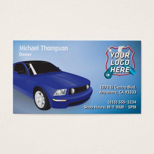 Auto Repair, Car Mechanic Business Card