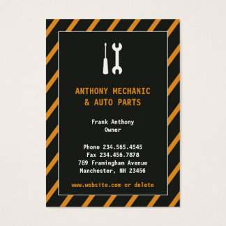 Auto Repair Chubby Business Card