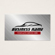 Auto Repair Cool Car Shape Metallic Automotive Business Card at Zazzle