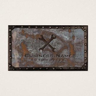 Auto Repair Grunge Rusty Metal Vintage Automotive Business Card