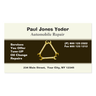 Auto Repair Men's Tools Wrench Double-Sided Standard Business Cards (Pack Of 100)