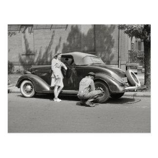 Auto Repair Service, 1942 Postcard