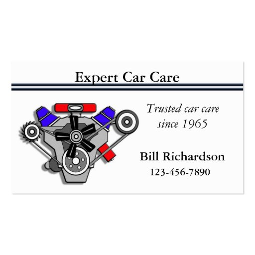 Auto Repair Shop Business Card