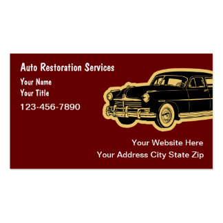 Auto Restoration Business Cards