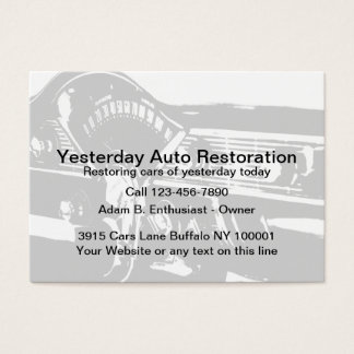 Auto Restoration Service Business Card