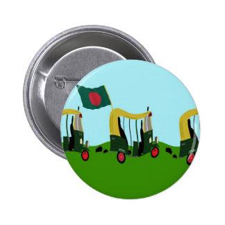 Auto Rickshaws in Bangladesh Pinback Button