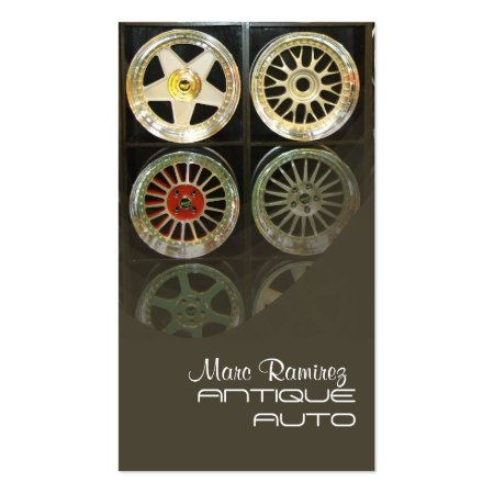 Cool Tire Rims Automotive Business Cards