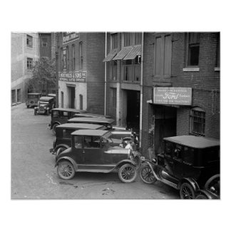 Auto Sales and Service, 1926. Vintage Photo Poster