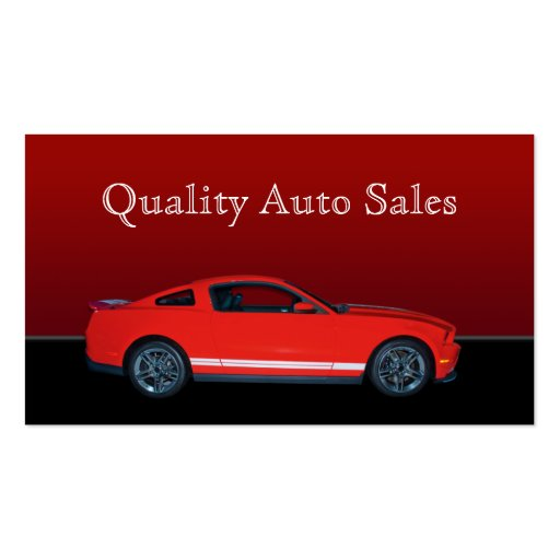 Auto sales and service business card templates zazzle for Auto sales business cards