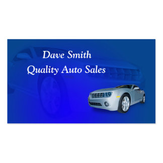 Auto Sales and Service Double-Sided Standard Business Cards (Pack Of 100)