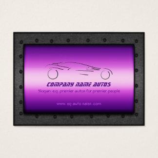 Auto Sales, Brushed Purple Chrome - Sportscar Business Card
