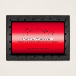 Auto Sales, Brushed Red Chrome - Sportscar Business Card