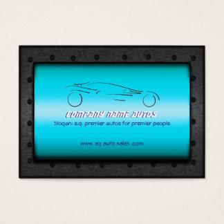 Auto Sales, Brushed Sky Blue Chrome - Sportscar Business Card