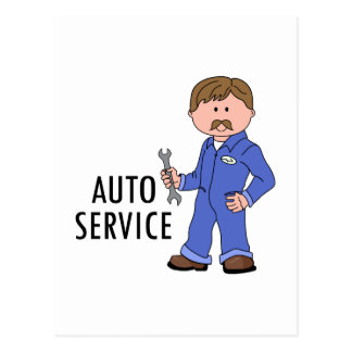 AUTO SERVICE POST CARD