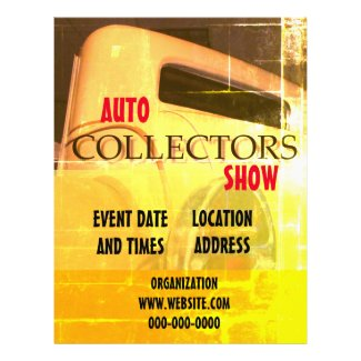 Auto Show Faded Shaded Background Pads Flyer