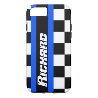 Auto sports chequered flag pattern name iPhone 7 case
