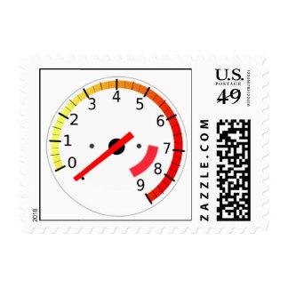 Auto Tachometer Postage Stamps