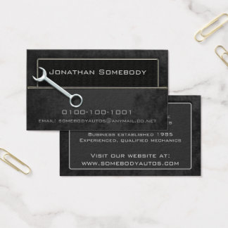Auto Trade Business Card Template 16