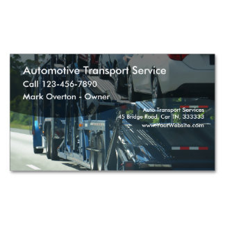 Auto Transport Business Card Magnet