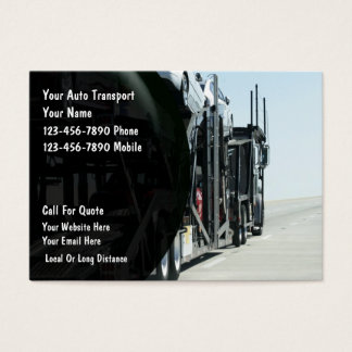Auto Transport Business Cards