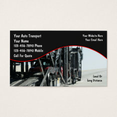 Auto Transport Business Cards at Zazzle