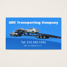 Auto Transporter Car Hauling Logistics Business Card at Zazzle