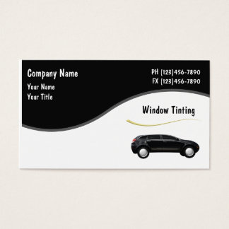 Auto Window Tinting Cards